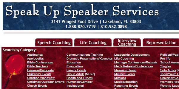 Speak Up Speaker Services